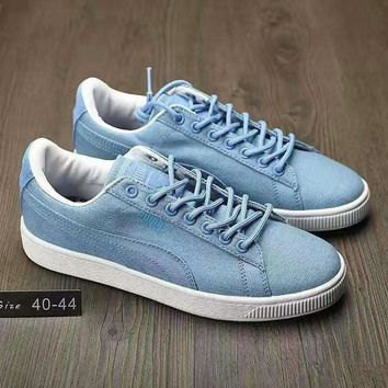 fashion puma man cowboy casual running sport shoes sneakers light blue g ahxf qf  number 1
