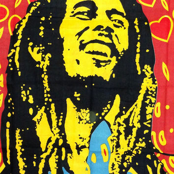 Raising Bob Marley Tapestry Hippie Hippy Wall Hanging Tapestry Indian Tapestry Bedspread Bedcover Ethnic Decorative Art Indian Wall Hanging