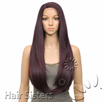 OUTRE SYNTHETIC LACE FRONT PARTING WIG NATURAL YAKI 24 (FUTURA)