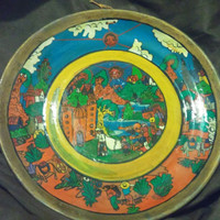 Gorgeous Vintage Mexican Decorative Wall Plate