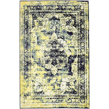 2048 Navy Blue Distressed Oriental Area Rugs