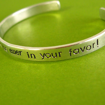 Hunger Games Bracelet May the odds be ever in your favor - by SpiffingJewelry