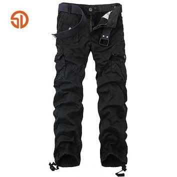 Clothing Fashion Cotton Tactical Cargo Pants Pleated Men Sweatpants Pants Hip hop Joggers Long Trousers Man