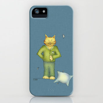You are the cat's pajamas - blue iPhone Case by Two Chicks Design | Society6