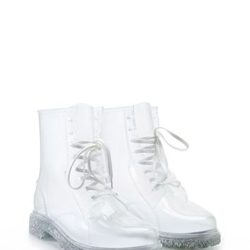 Glitter Sole Jelly Boots