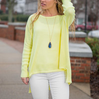 Light Bright Sweater, Buttercup