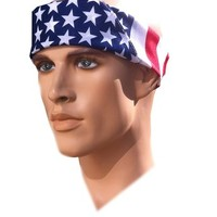 Costume Adventure American Flag Bandana Headband US Bandana For Men USA Bandana