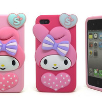 Stylish Apple Silicone Soft Phone Case for iPhone  [8002676039]