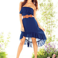 Strapless Hi-Low Dress