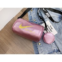 NIKE x PUMA x ADIDAS casual fashion lady shopping popular printed two-piece one-shoulder bag NIKE Bright pink