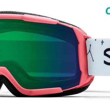 Smith - Grom Sunburst Doodles Snow Goggles / ChromaPop Everyday Green Mirror Lenses