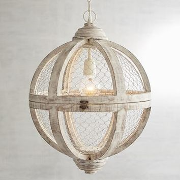 Rosard Wooden Convertible Pendant Light