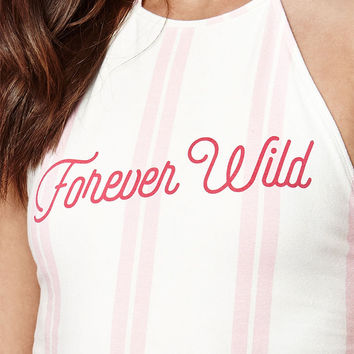 Kendall and Kylie Forever Wild Halter Bodysuit at PacSun.com