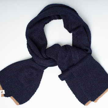 Light alpaca Scarf / navy / blue / camel brown wool unisex Scarf / girl / boy / toddler / children / kids / baby