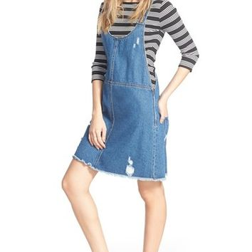 Tinsel Denim Pinafore Dress | Nordstrom