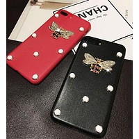 DCCKJ1A Gucci  Pearl bee phone case shell  for iphone 6/6s,iphone 6p/ 6splus,iphone 7, iphone7plus
