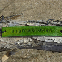 Hiddlestoner Tom Hiddleston CHOOSE COLOUR Fandom Inspired Leather ID Bracelet