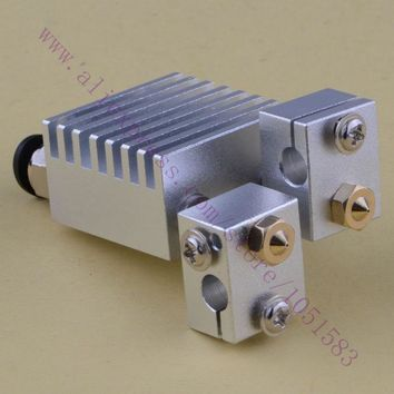 SWMAKER Chimera Hotend- Clone Multi-extrusion hotend kit V6 Dual Head Extruder HotEnd 0.4mm Nozzles 1.75mm/3.0mm,