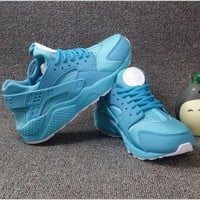 """NIKE""AIR Huarache Running Sport Casual Shoes Sneakers Sapphire blue"