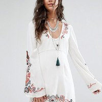 Free People Holiday Folk Flared Sleeve Dress at asos.com