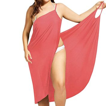Plus Size Pareo Beach Cover Up Wrap Dress Bikini Swimsuit Bathing Suit Cover Ups Robe De Plage  Beach Wear Tunic kaftan Swimwear