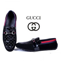 Fashion Online Gucci Men's Fashion Cool Edgy Flats Shoes