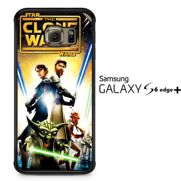 The Clone Wars film poster Z0599 Samsung Galaxy S6 Edge Plus Case