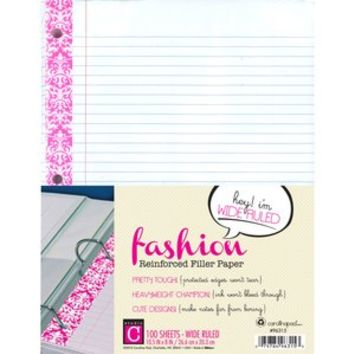 Walmart: Studio C Vintage Vogue Fashion Reinforced Filler Paper, Wide Rule