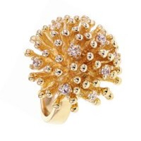 Gold Ring - Sparkling Hedgehog by Ambre & Louise