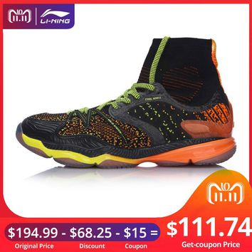 Li-Ning Men Ranger Professional Badminton Shoes High Cut Cushion BOUNSE+ LiNing Sport Shoes Sneakers  AYAM009 XYY047
