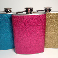 Party Girl Glitter Flask by GlitterFlasks on Etsy