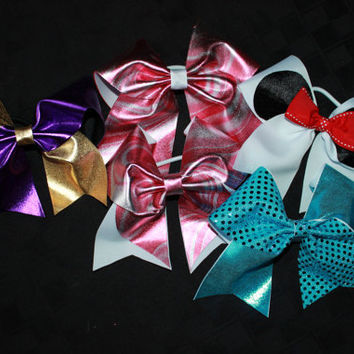 YOU PICK cheer bows by Mommymadeitcreation on Etsy