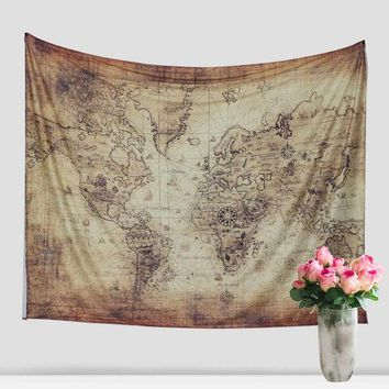 Indian Mandala Cotton Tapestry Hippie Wall Hanging World Map Tapestry Beach Towel Yoga Mat Bedspread Table Cloth Home Decorative