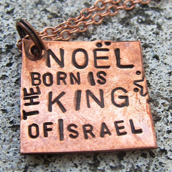 Noel  Born is the King of Israel Hand by DesignByAnyOtherName