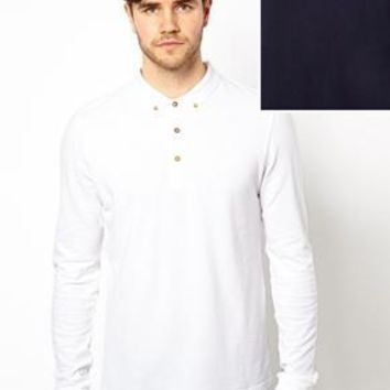 ASOS Polo Shirt With Long Sleeves 2 Pack SAVE 12.5%