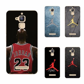 For Asus Zenfone Max ZC550KL 5.5 inch Soft Silicon Cover Phone Cases Cool Jordan 23 Fa