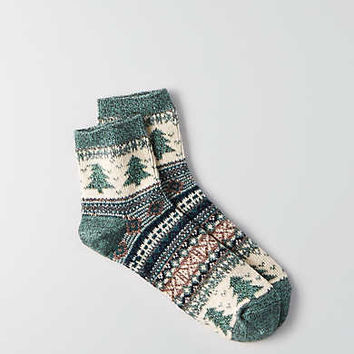 AEO Fairisle Ankle Socks, Green