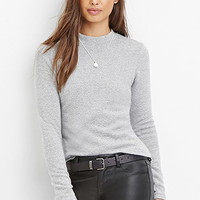 Mock Neck Marled Top