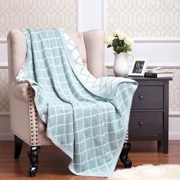 Throw Blanket Cotton Knitted Blankets