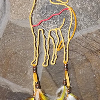 Indian Pony dream catcher Mustang, free shipping in USA