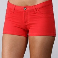 Coral Stretch Ponte Shorts