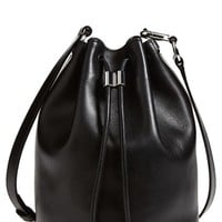 Alexander Wang 'Alpha' Leather Bucket Bag - Black