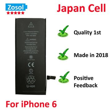 10pcs/lot Best Quality 0 zero cycle Battery for iPhone 6 6G 1810mAh 3.82V Replacement Repair Parts