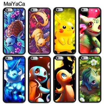 MaiYaCa Charizard Squirtle Vaporeon s Phone Case for iPhone 6 6s Plus 7 8 Plus X 5 5S SE Capa Fundas Soft TPU Case CoverKawaii Pokemon go  AT_89_9