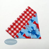 Lobster Dog Bandana, Summer Dog Bandana, Over-the-Collar Dog Bandana