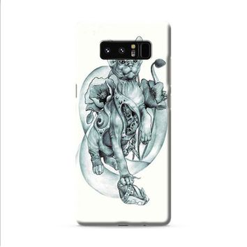 steampunk tattoo cat Samsung Galaxy Note 8 case