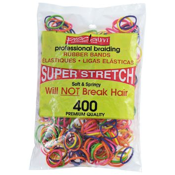 Rubber Bands Assorted Brights 400 Count