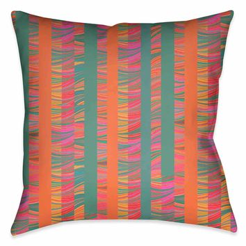 Multi-Color Stripe Marble Outdoor Decorative Pillow