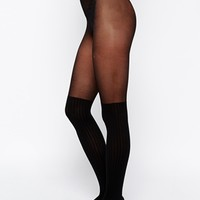 ASOS Rib Over The Knee Tights