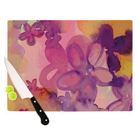 "Louise Machado ""Dissolved Flowers"" Cutting Board"